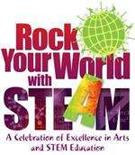 Rock your world with STEAM logo