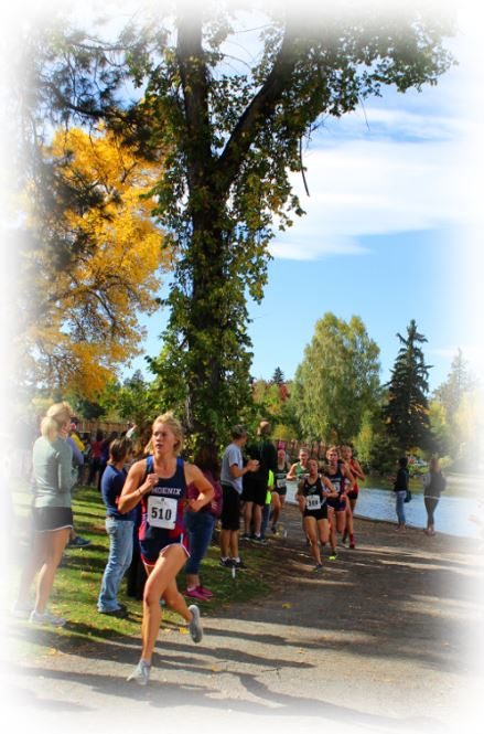 photo of Emma Amundson racing at Bend
