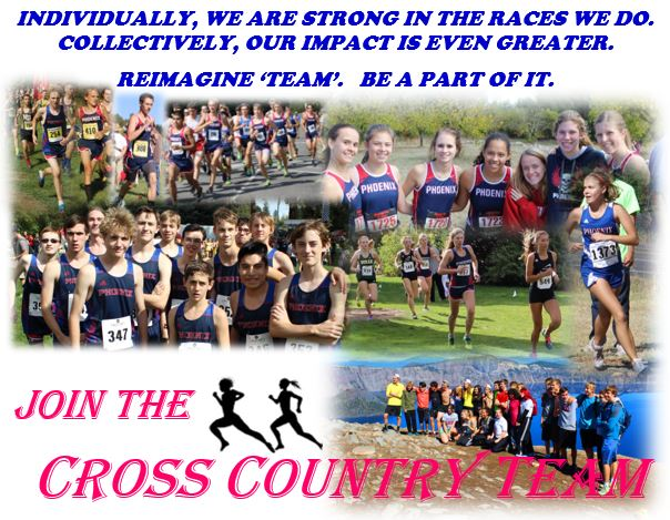 recruitment flier for cross country