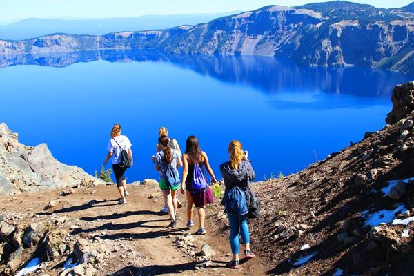 Hiking at Crater Lake